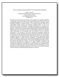 Utility of Ecological Conceptual Models ... by Harwell, Mark A.
