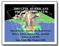2003 Gfdl Hurricane Prediction System by Tuleya, Robert