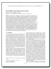On the Global Oxygen Anomaly and Air-Sea... by Garcia, Hernan E.