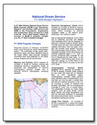 National Ocean Service Fy 2004 Budget Hi... by