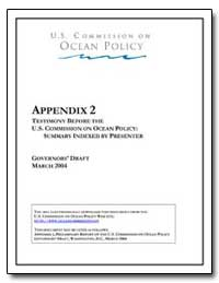 Appendix 2 Testimony before the U. S. Co... by