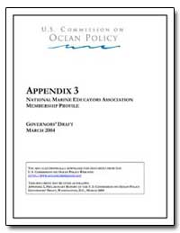 Appendix 3 National Marine Educators Ass... by Walker, Sharon H.