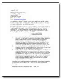 Testimony of Monica Riedel, Executive Di... by