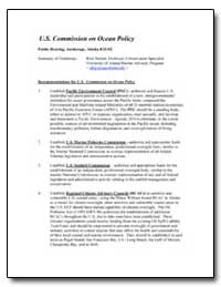 Recommendations for U.S. Commission on O... by Steiner, Rick
