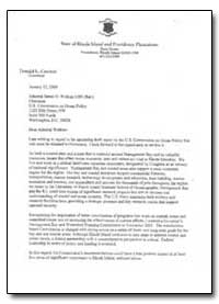 Dear Admiral Watkins I Am Writing in Reg... by Carcieri, Donald L.