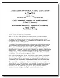 Louisiana Universities Marine Consortium... by Sammarco, Paul W., Dr.