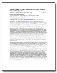 Public Comment : Usgs Activities on Cora... by Steiner, William Mokahi