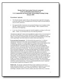 Marine Fish Conservation Network Comment... by