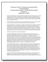 Testimony to the U.S. Commission on Ocea... by Rodgers, Mark