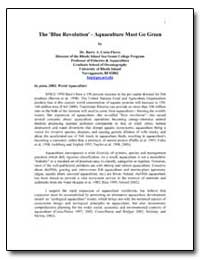 The 'Blue Revolution' - Aquaculture Must... by Costa-Pierce, Barry A., Dr.