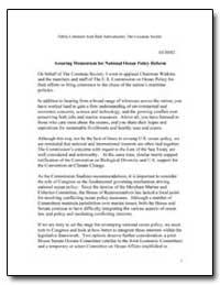 Assuring Momentum for National Ocean Pol... by Schwabacher, Rick