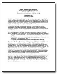 Public Testimony of Eli Weissman Ocean G... by