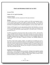 Ports and Waterways Safety Act of 1972 by