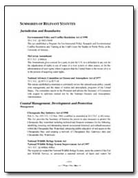 Summaries of Relevant Statutes by