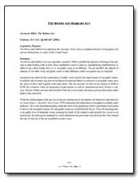 The Rivers and Harbors Act by