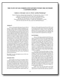 The Status of Gis Coordination Efforts W... by Schwemm, Catherin A.