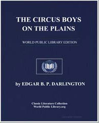 The Circus Boys on the Plains or the You... by Darlington, Edgar B. P.