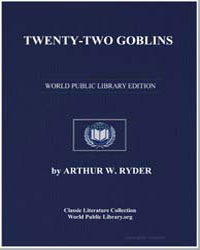 Translated from the Sanskrit by Ryder, Arthur W.