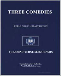Three Comedies by Bjornson, Bjornstjerne M.