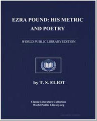 Ezra Pound : His Metric and Poetry by Eliot, T. S.
