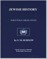 Jewish History by Dubnow, S. M.