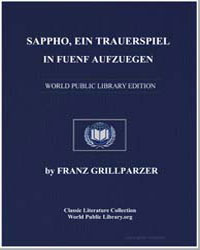 Sappho ein Trauerspiel in Fuenf Aufzuege... by Grillparzer, Franz