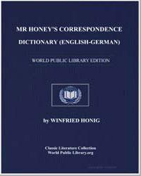 Mr Honey's Correspondence Dictionary (En... by Honig, Winfried
