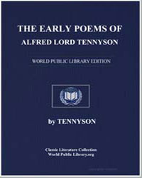 The Early Poems of Alfred Lord Tennyson by Tennyson, Alfred Lord