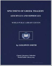Specimens of Greek Tragedy Aeschylus and... by Smith, Goldwin