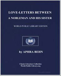 Love-Letters between a Nobleman and His ... by Behn, Aphra