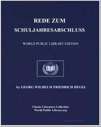 Rede zum Schuljahresabschluss by Hegel, Georg Wilhelm Friedrich