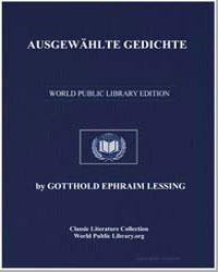 Ausgewahlte Gedichte by Lessing, Gotthold Ephraim