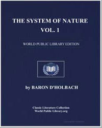 The System of Nature, Volume 1 by Dholbach, Baron