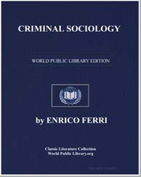 Criminal Sociology by Ferri, Enrico