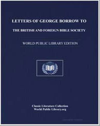 Letters of George Borrow to the British ... by