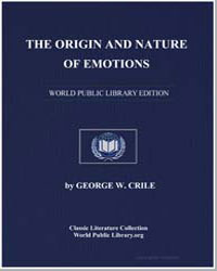 The Origin and Nature of Emotions by Crile, George W.