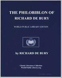 The Philobiblon of Richard de Bury by De Bury, Richard