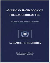 American Hand Book of the Daguerreotype by Humphrey, Samuel D.