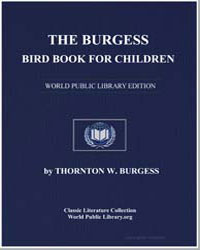 The Burgess Bird Book for Children by Burgess, Thornton Waldo