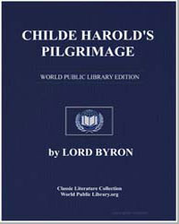 Childe Harold's Pilgrimage by Byron, Lord