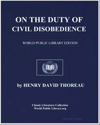 On the Duty of Civil Disobedience by Thoreau, Henry David