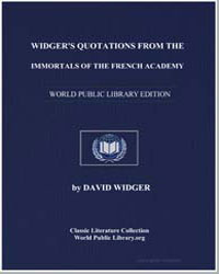 Widger's Quotations from the Immortals o... by Widger, David