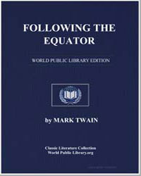 Following the Equator by Twain, Mark
