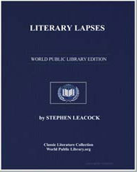 Literary Lapses by Leacock, Stephen