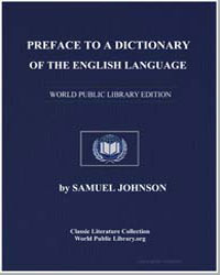 Preface to a Dictionary of the English L... by Johnson, Samuel