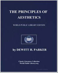 The Principles of Aesthetics by Parker, Dewitt Henry