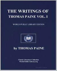 The Writings of Thomas Paine Volume I by Paine, Thomas