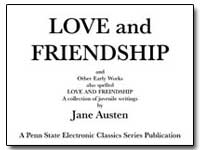 Love and Friendship and Other Early Work... by Austen, Jane