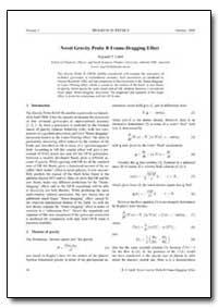 Novel Gravity Probe B Frame-Dragging Eff... by Cahill, Reginald T.