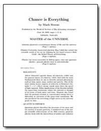 Chance Is Everything by Steene, Mark